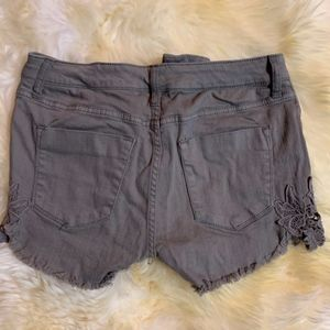 Mossimo Supply Co. Shorts - Women's High Rise Lace Shorts Size 8